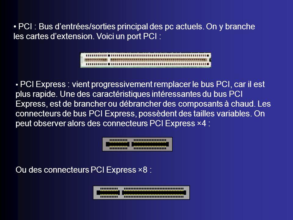 Ou des connecteurs PCI Express ×8 :