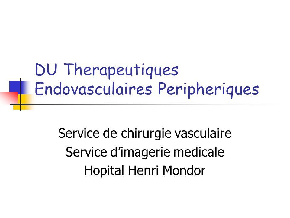 DU Therapeutiques Endovasculaires Peripheriques