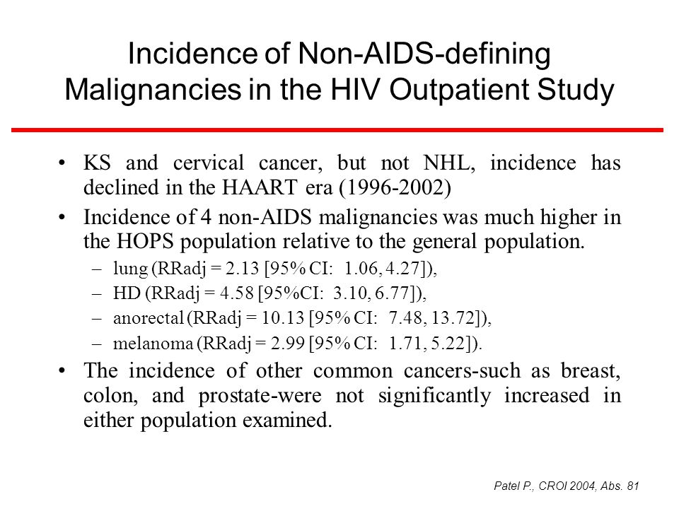 Incidence of Non-AIDS-defining Malignancies in the HIV Outpatient Study
