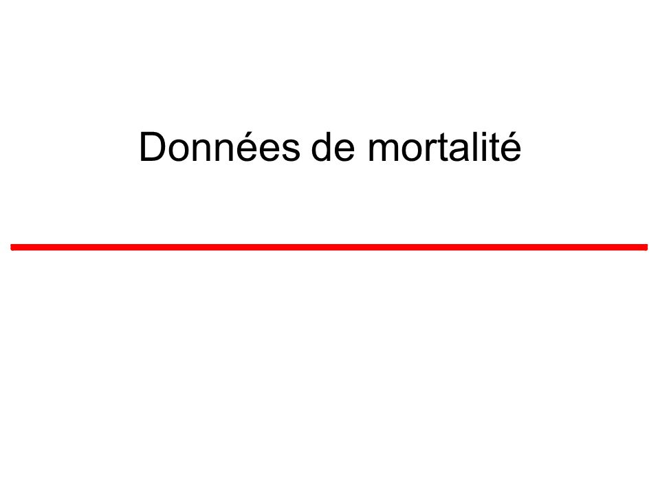 Données de mortalité