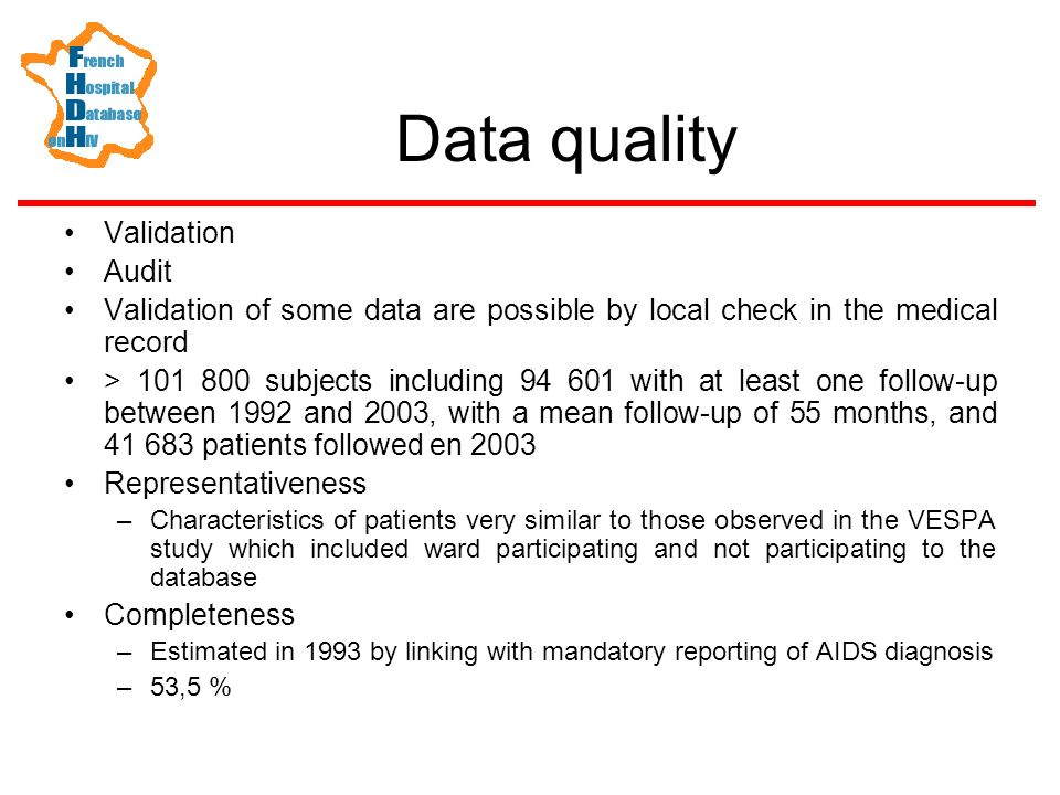Data quality Validation Audit