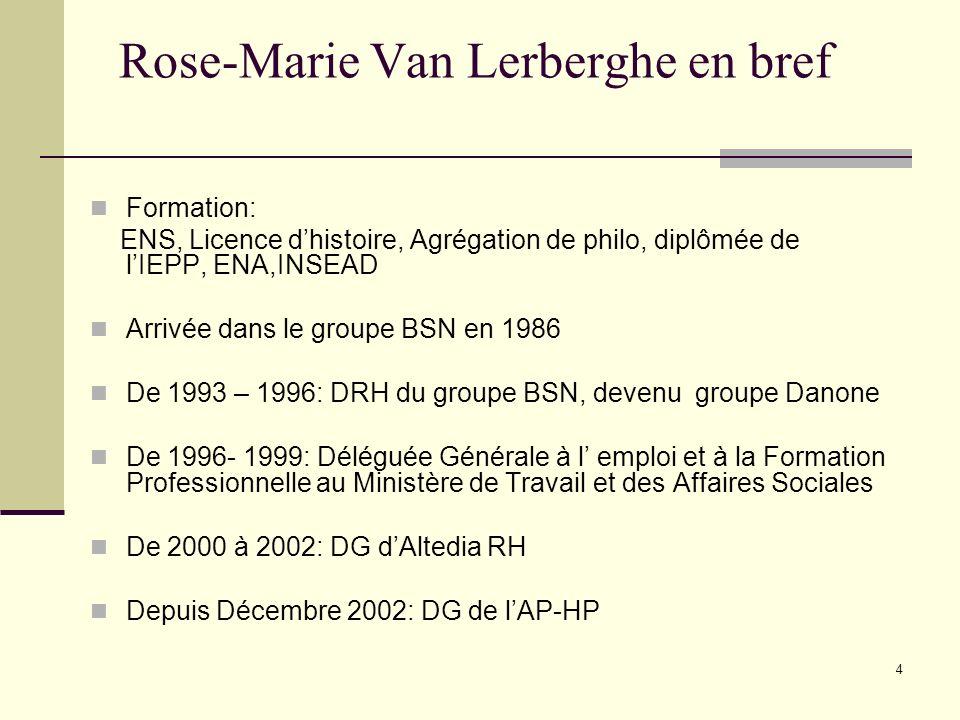Rose-Marie Van Lerberghe en bref