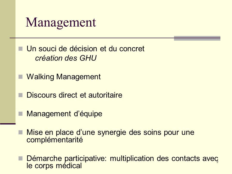 Management Un souci de décision et du concret création des GHU