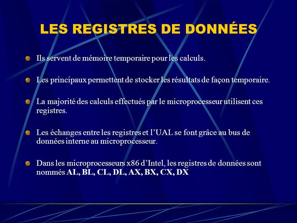 LES REGISTRES DE DONNÉES