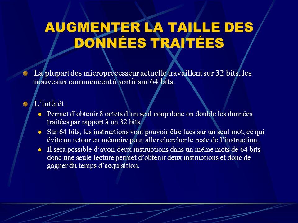 AUGMENTER LA TAILLE DES DONNÉES TRAITÉES