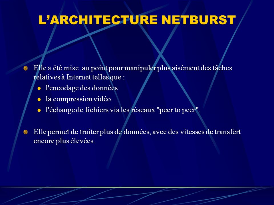 L'ARCHITECTURE NETBURST