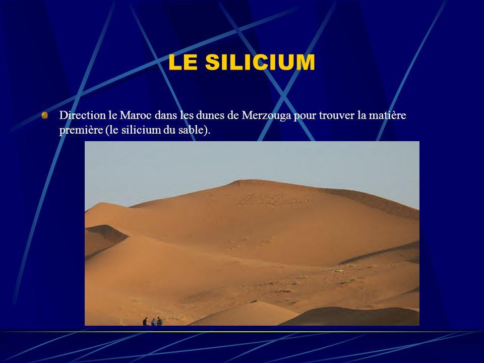 LE SILICIUM Direction le Maroc dans les dunes de Merzouga pour trouver la matière première (le silicium du sable).