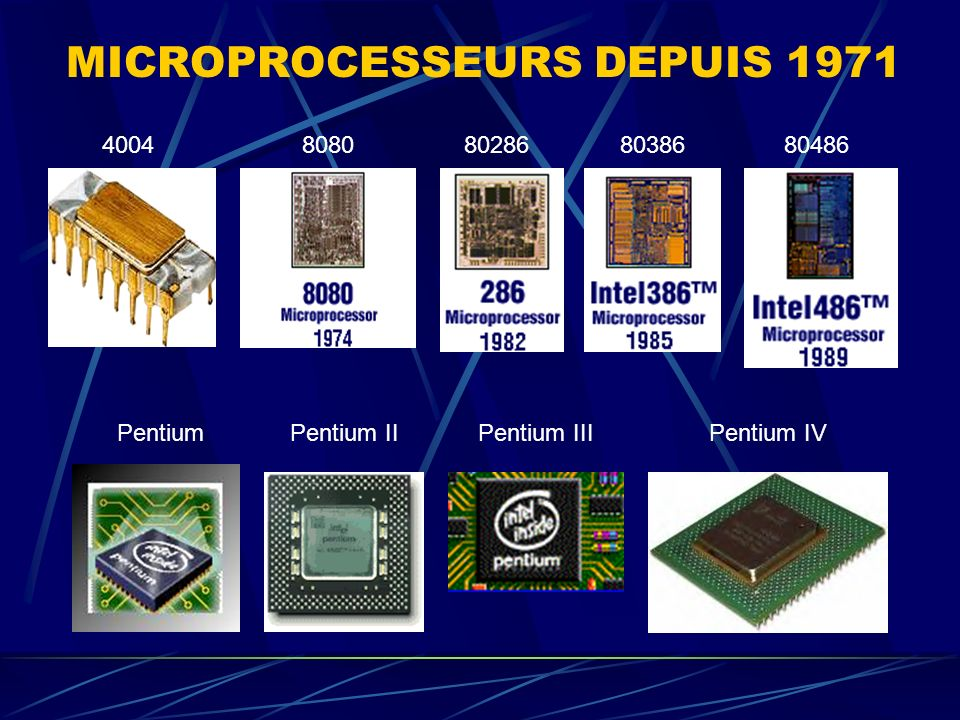 MICROPROCESSEURS DEPUIS 1971