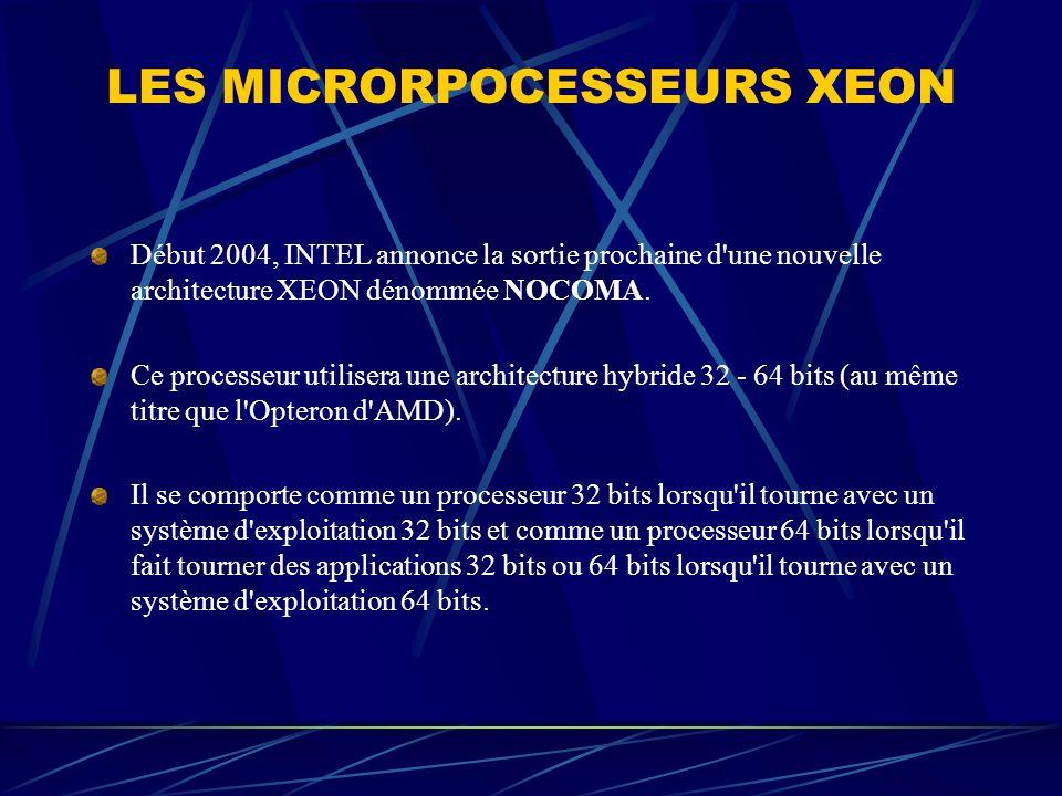 LES MICRORPOCESSEURS XEON