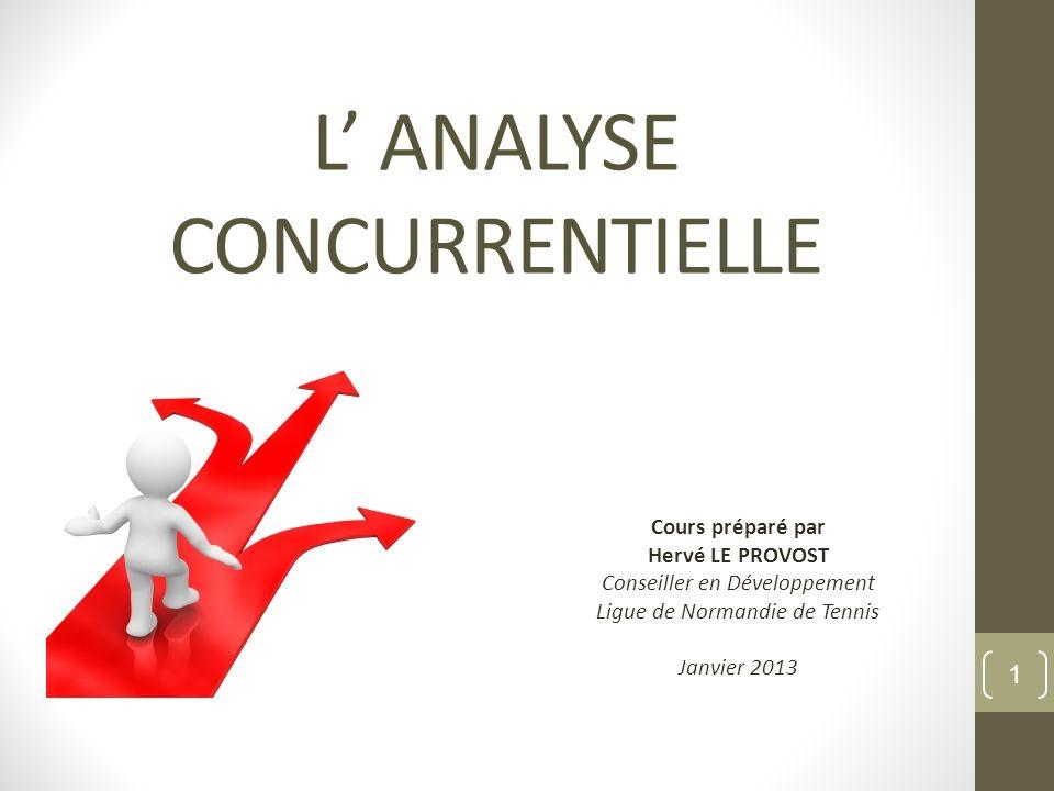 L' ANALYSE CONCURRENTIELLE