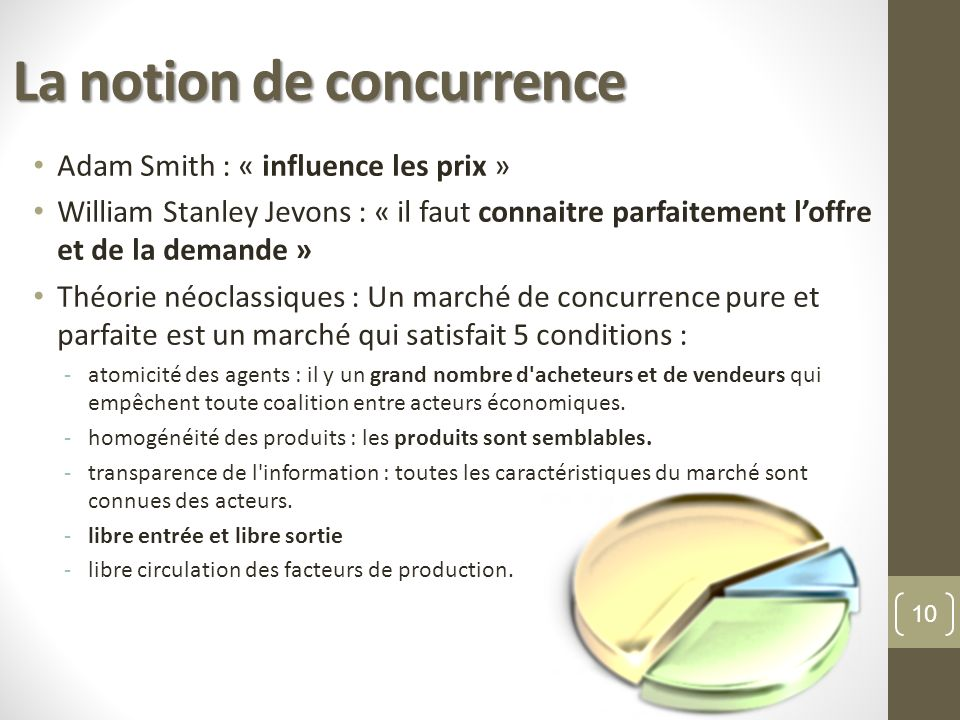 La notion de concurrence