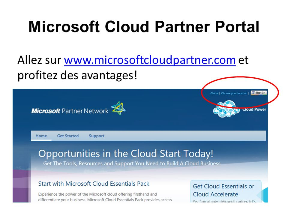 Microsoft Cloud Partner Portal