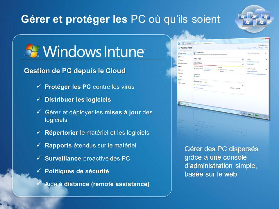 Gérer et protéger les PC où qu'ils soient