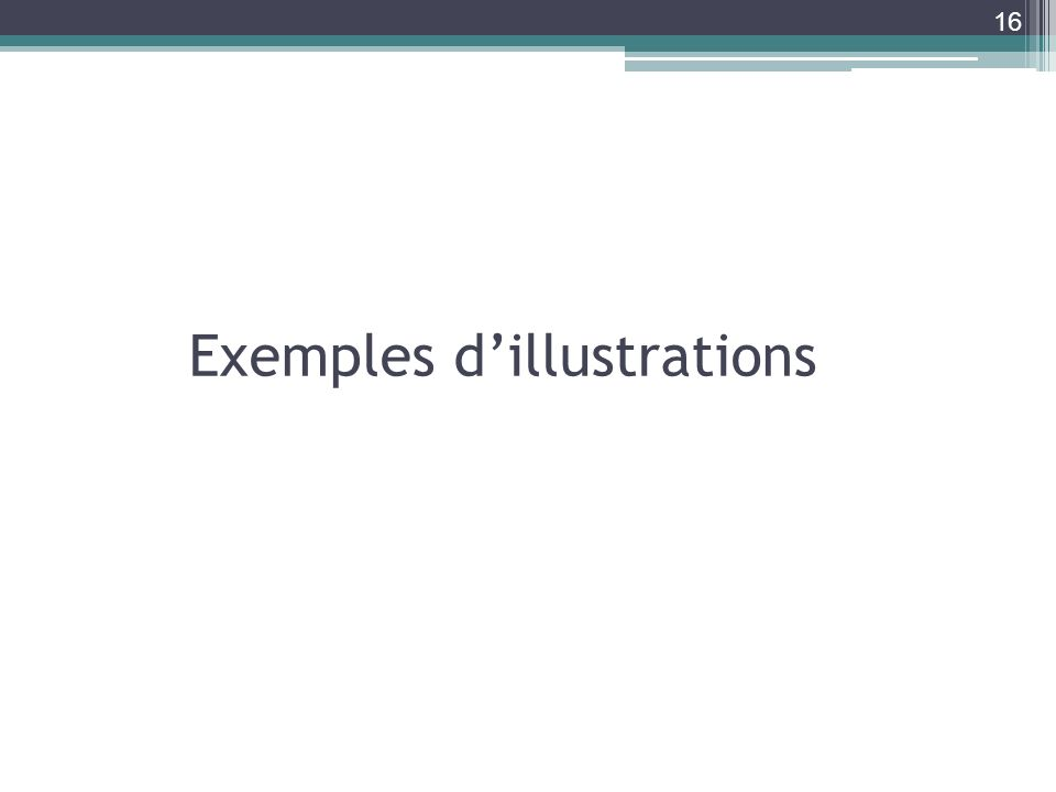 Exemples d'illustrations