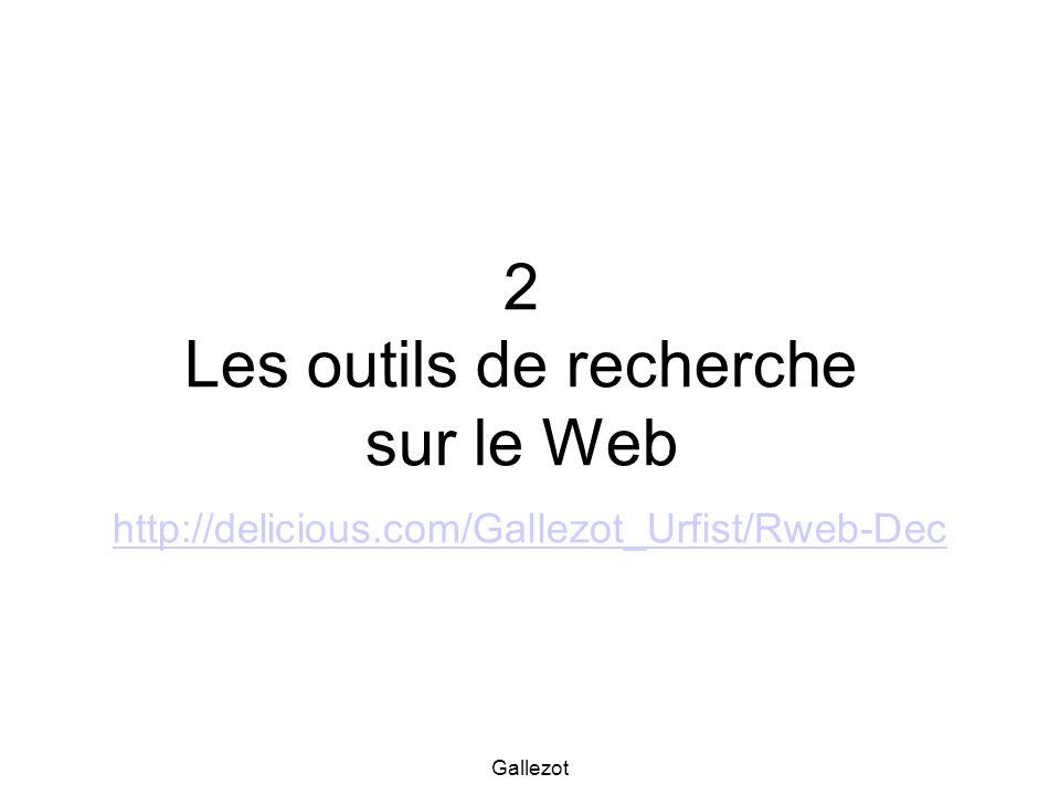 2 Les outils de recherche sur le Web http://delicious