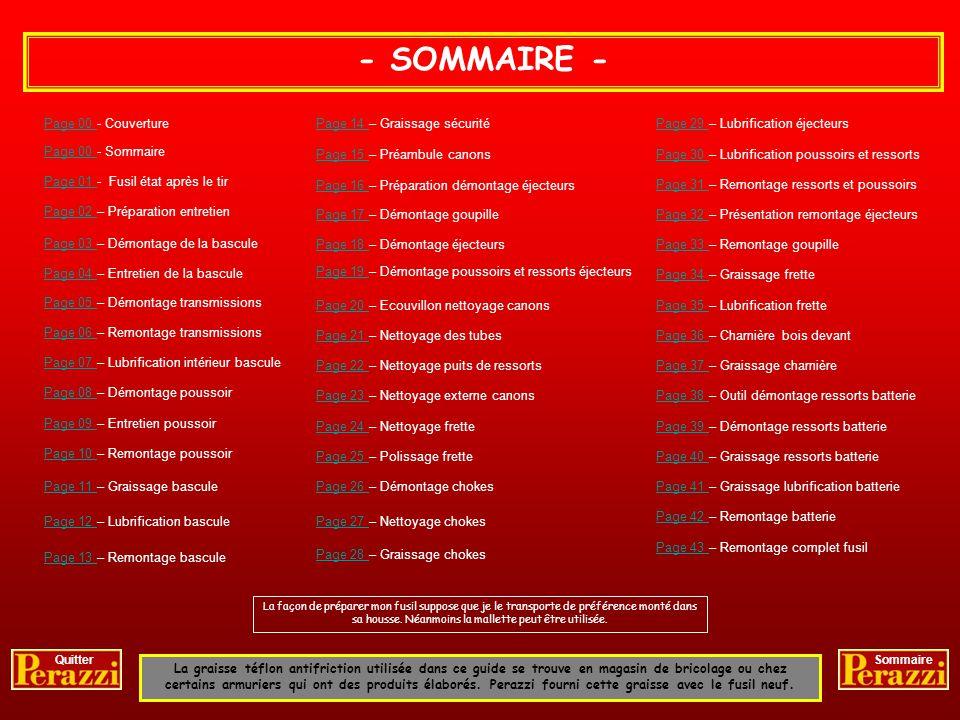 - SOMMAIRE - Page 00 - Couverture Page 14 – Graissage sécurité
