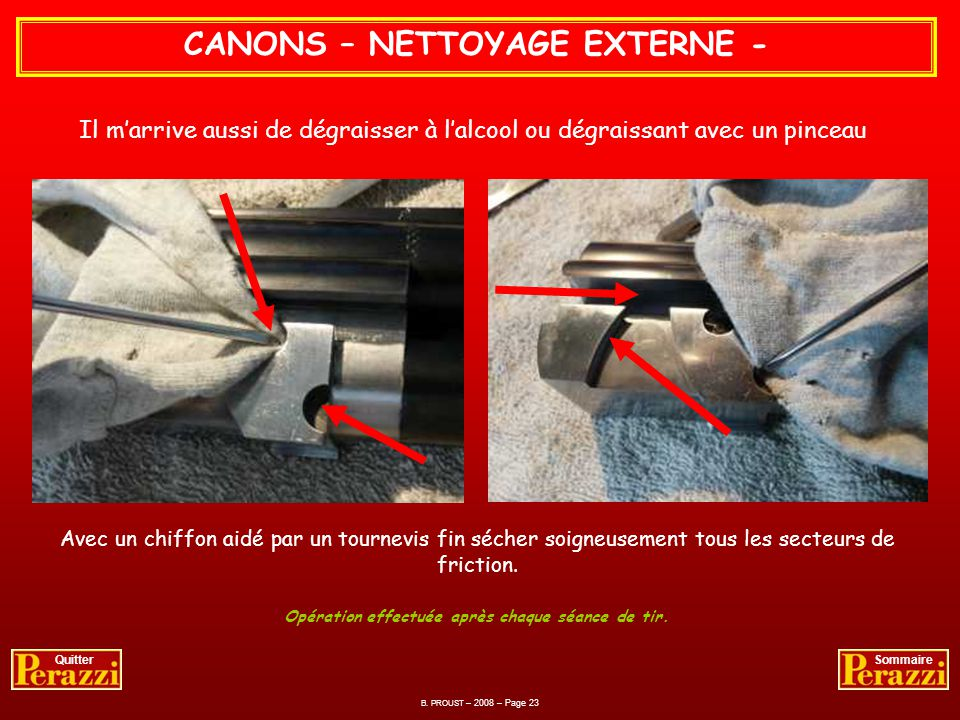CANONS – NETTOYAGE EXTERNE -