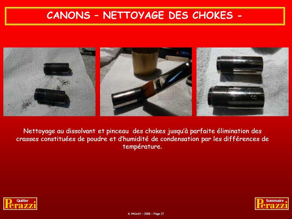 CANONS – NETTOYAGE DES CHOKES -