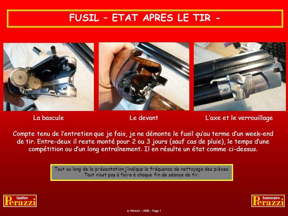 FUSIL – ETAT APRES LE TIR -