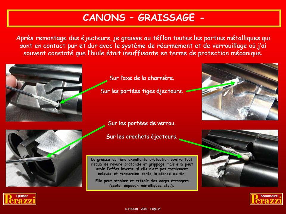CANONS – GRAISSAGE -