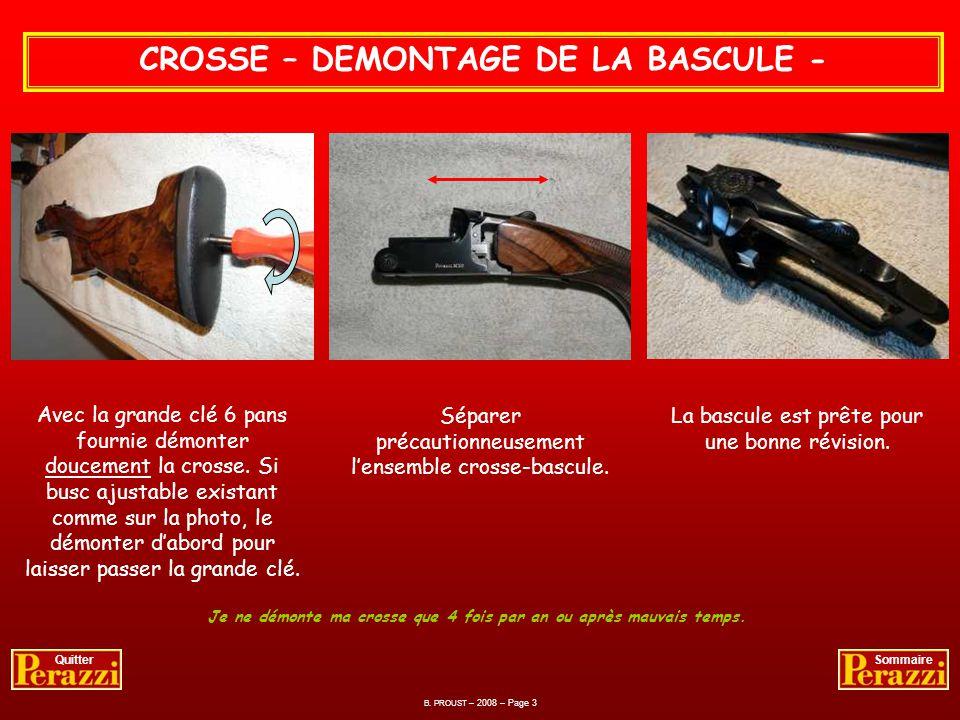 CROSSE – DEMONTAGE DE LA BASCULE -