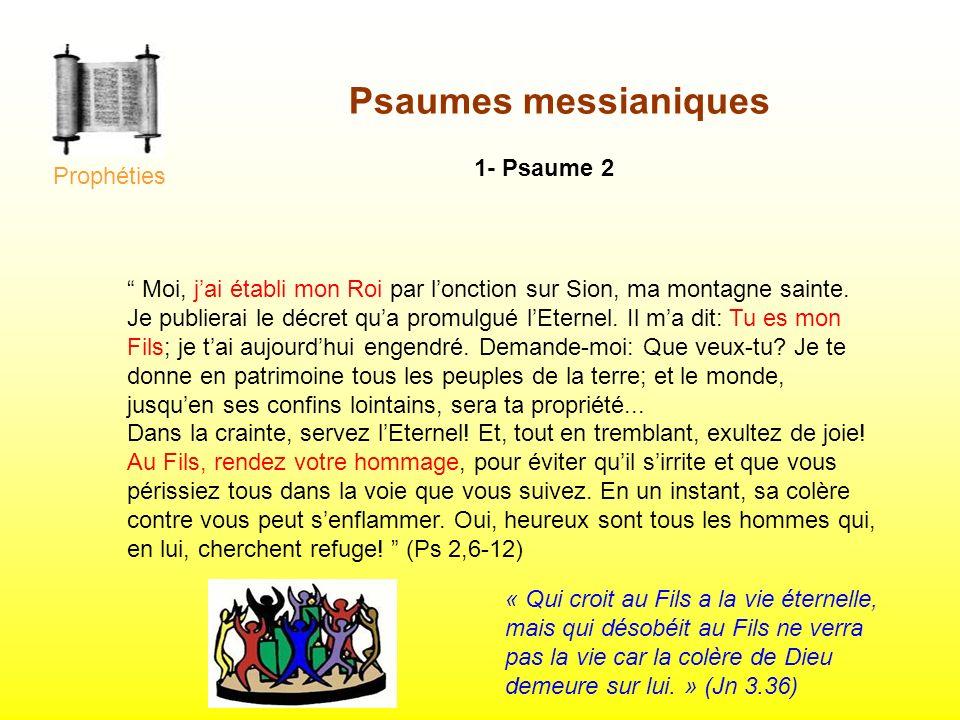 Psaumes messianiques 1- Psaume 2 Prophéties