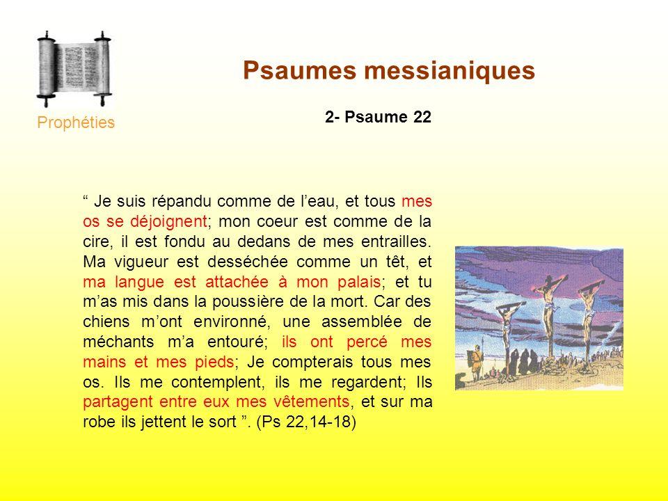 Psaumes messianiques 2- Psaume 22 Prophéties