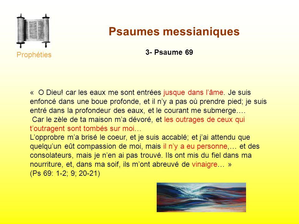 Psaumes messianiques 3- Psaume 69 Prophéties
