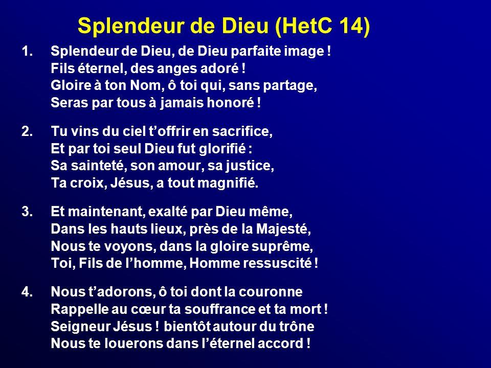 Splendeur de Dieu (HetC 14)