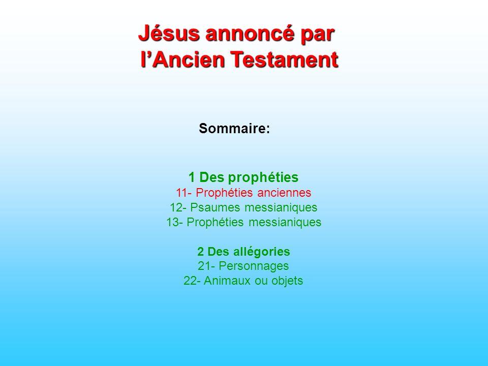 Jésus annoncé par l'Ancien Testament