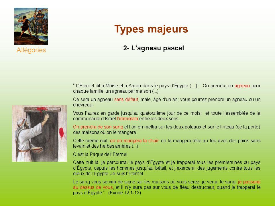 Types majeurs 2- L'agneau pascal Allégories