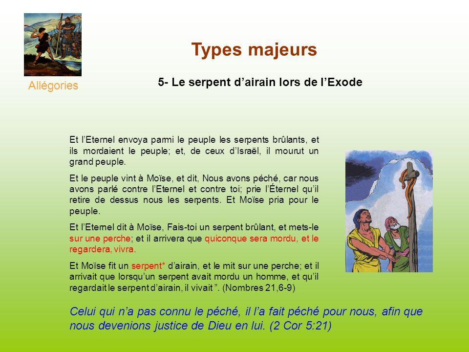 Types majeurs 5- Le serpent d'airain lors de l'Exode Allégories