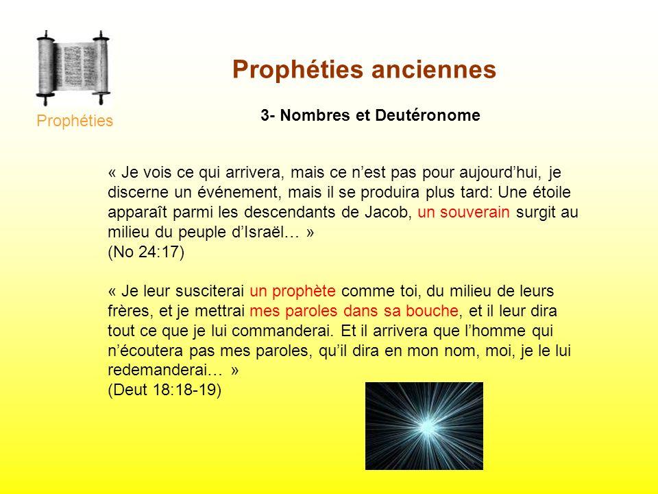 3- Nombres et Deutéronome