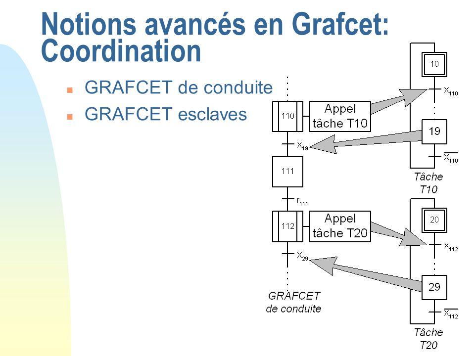 Notions avancés en Grafcet: Coordination