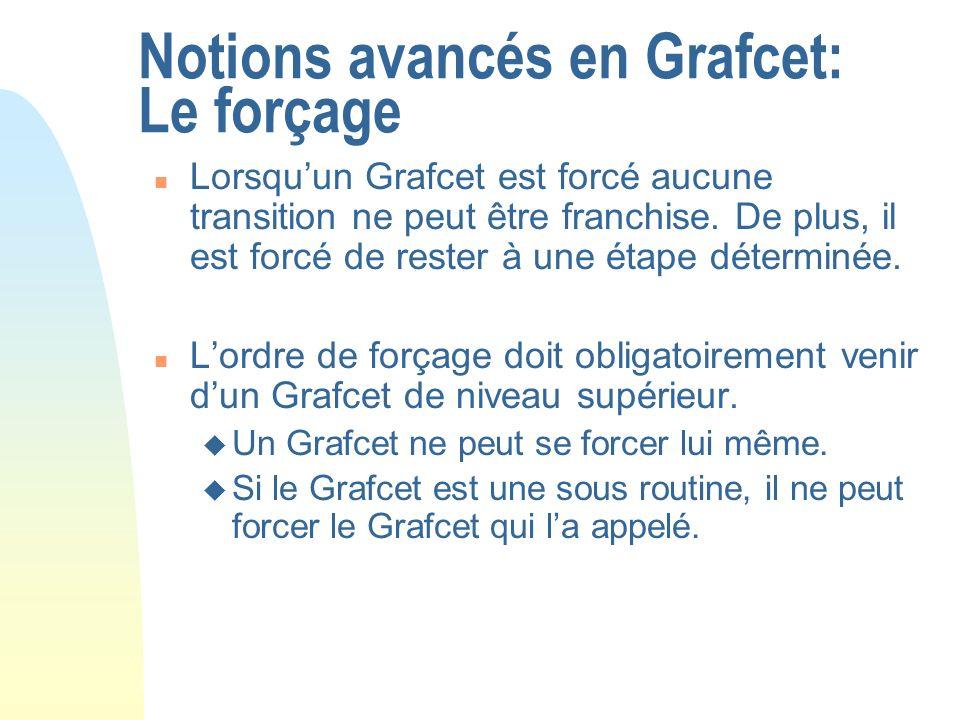 Notions avancés en Grafcet: Le forçage