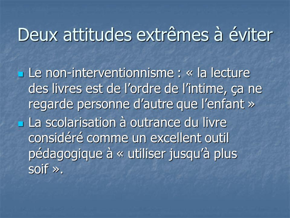 Deux attitudes extrêmes à éviter