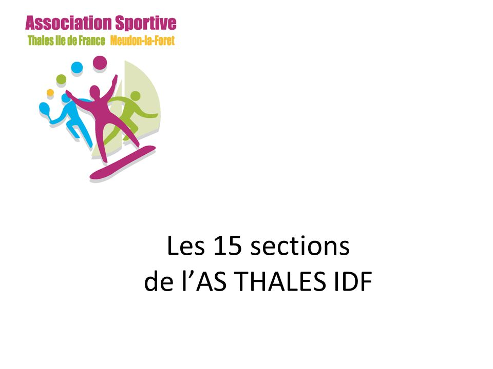 Les 15 sections de l'AS THALES IDF