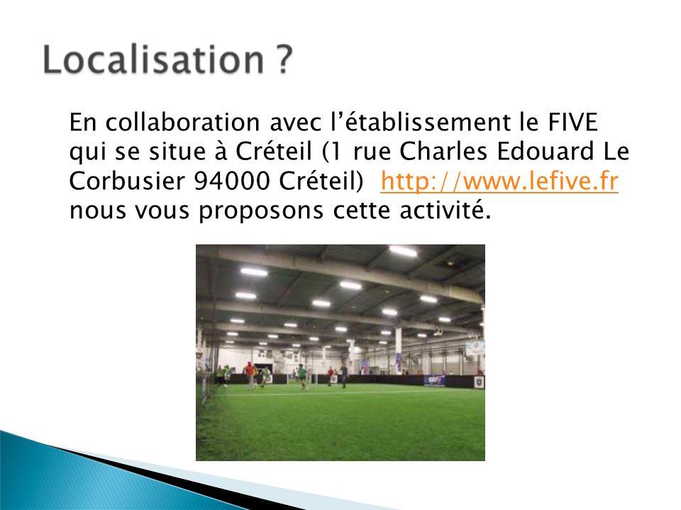 En collaboration avec l'établissement le FIVE qui se situe à Créteil (1 rue Charles Edouard Le Corbusier 94000 Créteil) http://www.lefive.fr nous vous proposons cette activité.