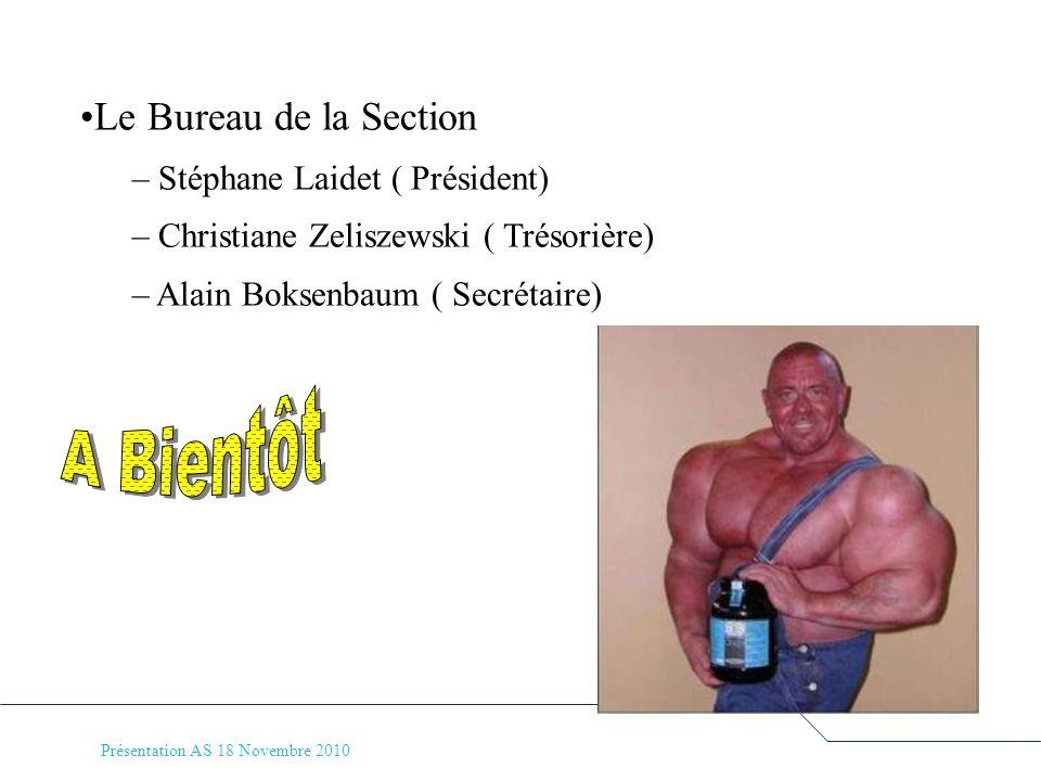 A Bientôt Le Bureau de la Section Stéphane Laidet ( Président)