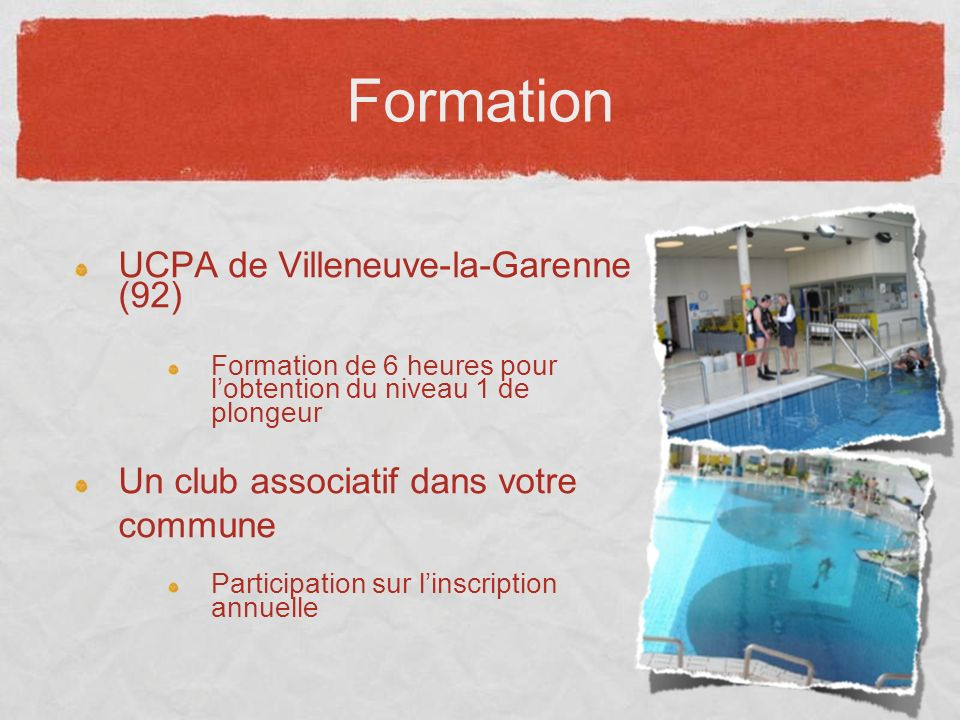 Formation UCPA de Villeneuve-la-Garenne (92)