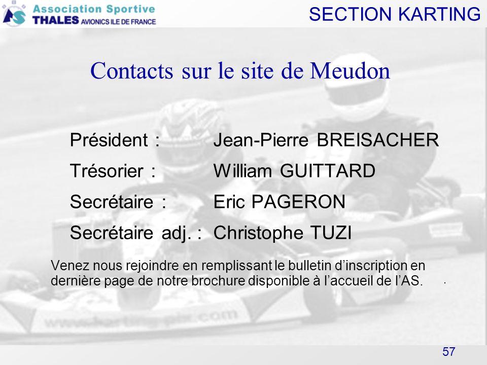 Contacts sur le site de Meudon 