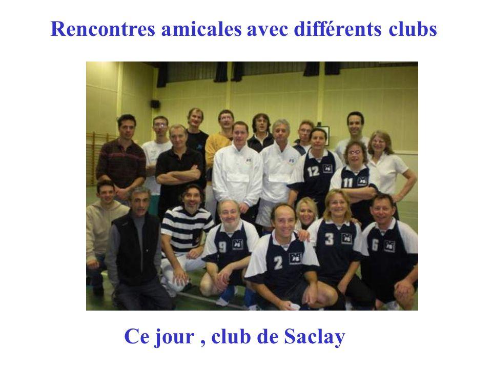 Rencontres amicales avec différents clubs