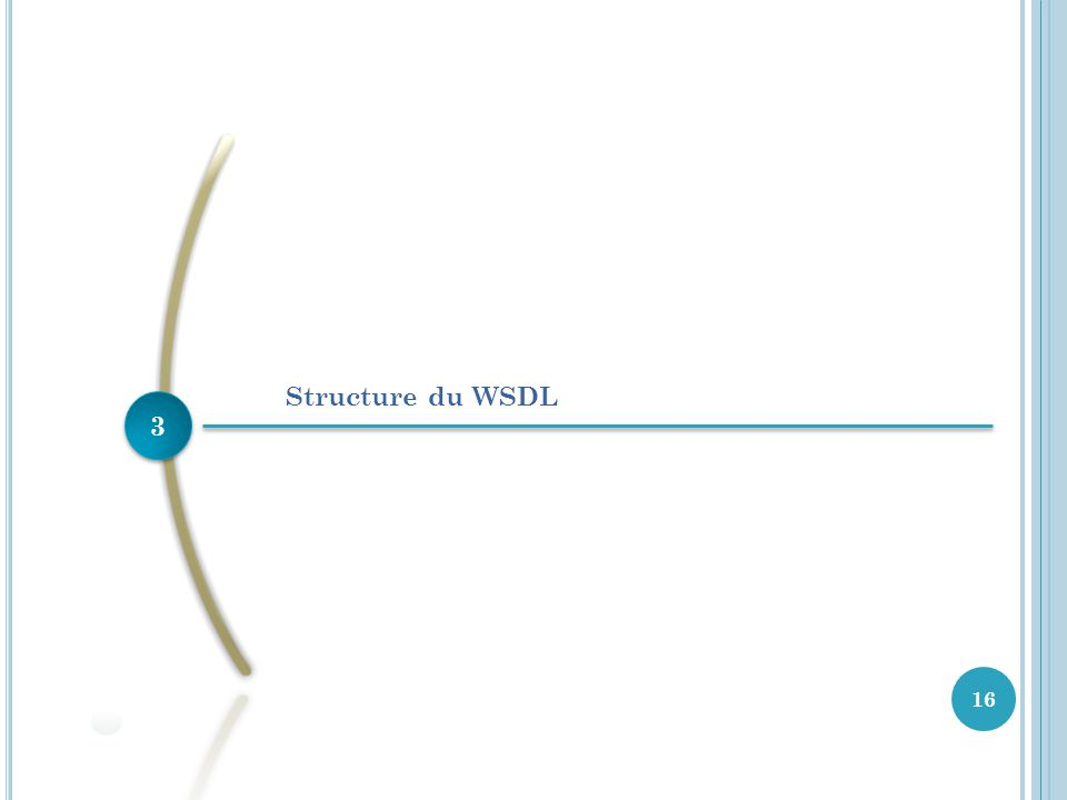 Structure du WSDL 3