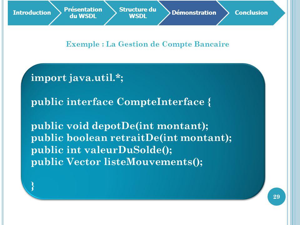 Exemple : La Gestion de Compte Bancaire