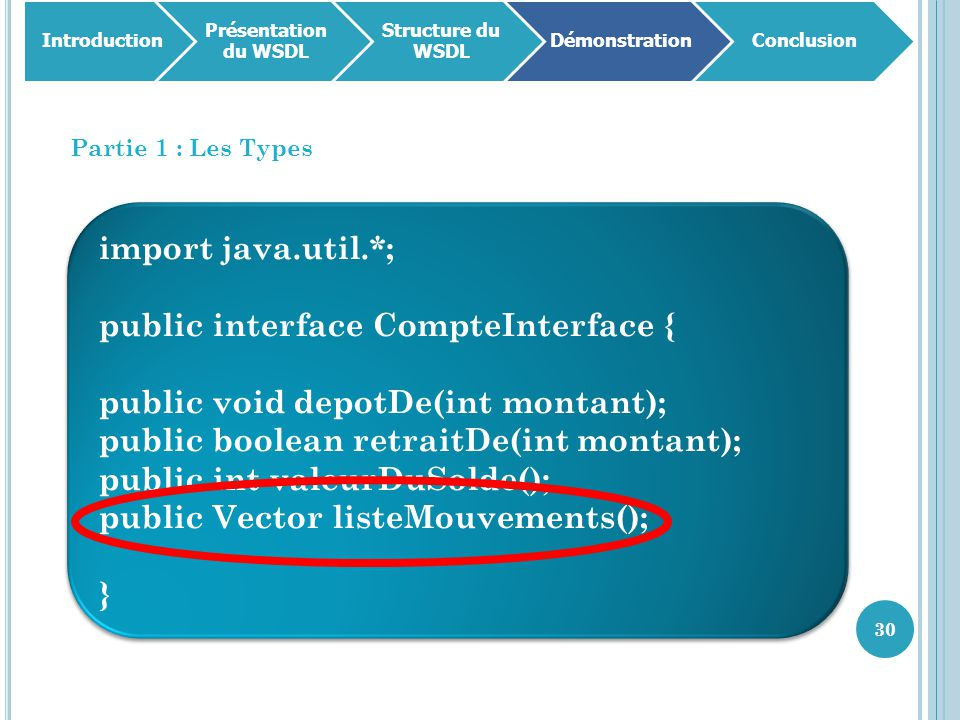public interface CompteInterface { public void depotDe(int montant);