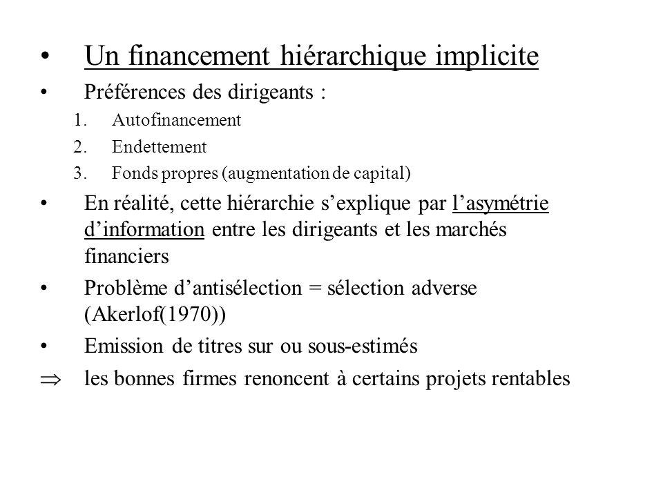 Un financement hiérarchique implicite