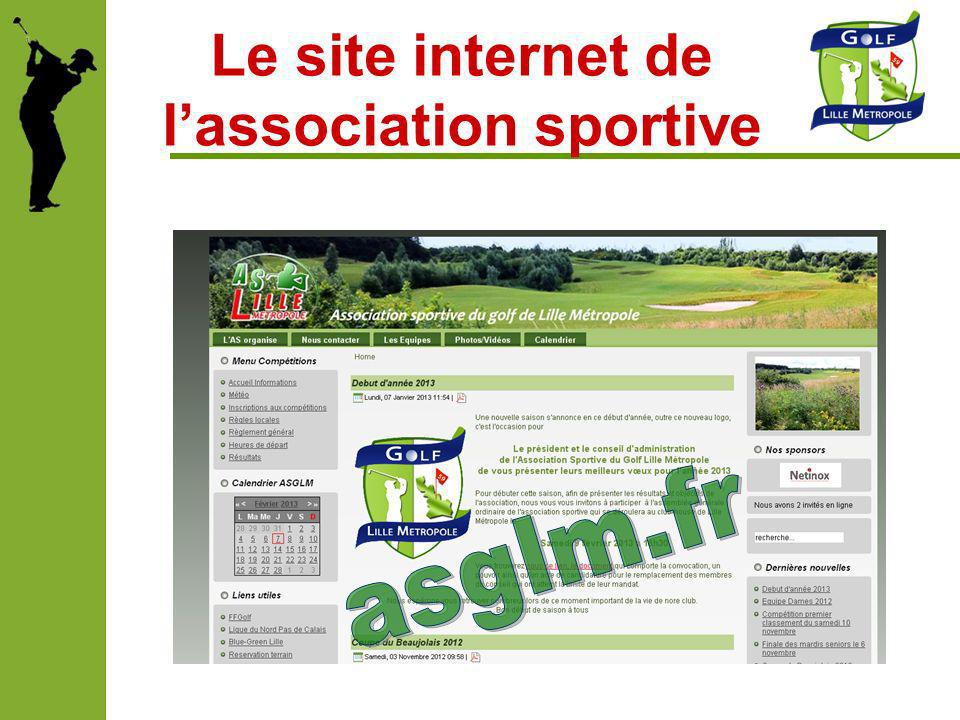 Le site internet de l'association sportive