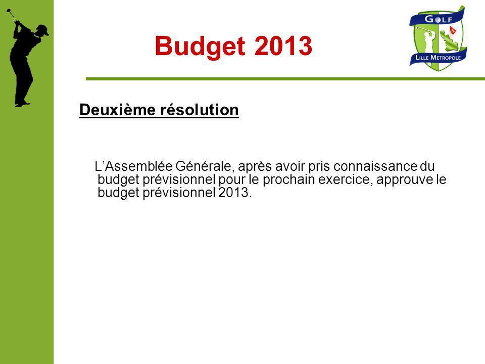 Budget 2013 Deuxième résolution