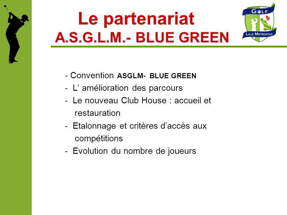 Le partenariat A.S.G.L.M.- BLUE GREEN
