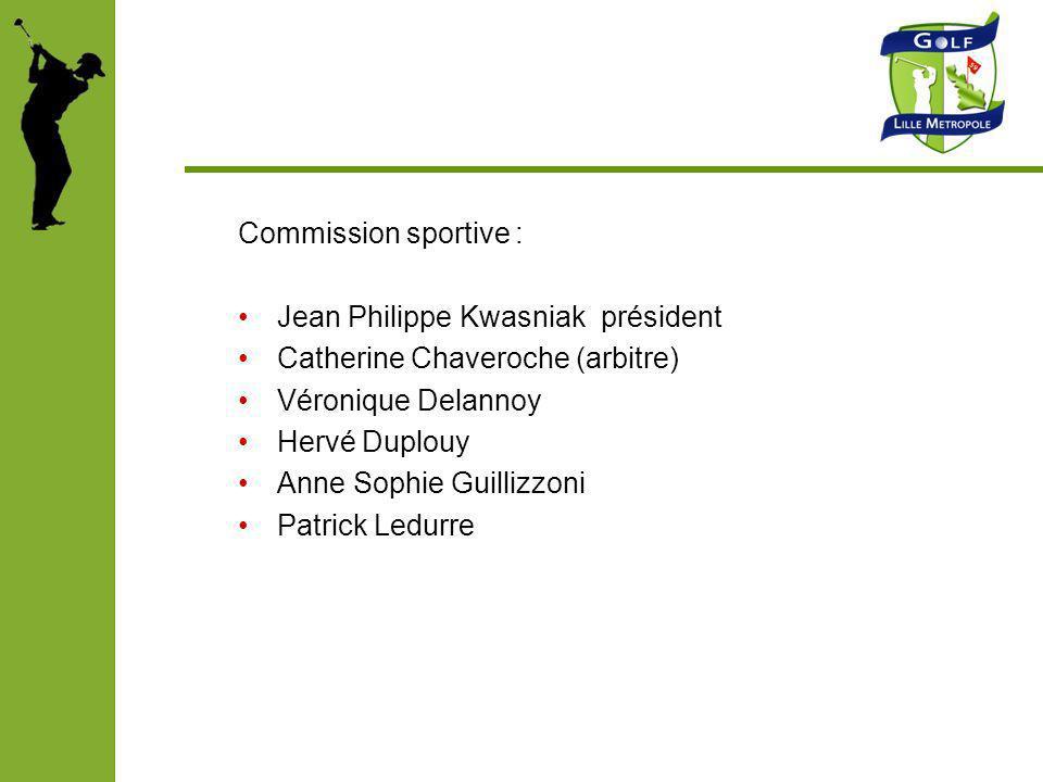 Commission sportive : Jean Philippe Kwasniak président. Catherine Chaveroche (arbitre) Véronique Delannoy.